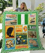 I Love You From Here To Nigeria Quilt Blanket Great Customized Blanket Gifts For Birthday Christmas Thanksgiving