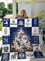 New York Yankees Christmas Quilt Blanket Ver 1