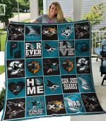 San Jose Sharks Forever Not Just When We Win Quilt Blanket Great Customized Blanket Gifts For Birthday Christmas Thanksgiving