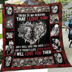 Skull Husband And Wife There Is No Denying That I Love You And I Will You Until I Die Quilt Blanket Great Customized Blanket Gifts For Birthday Christmas Thanksgiving