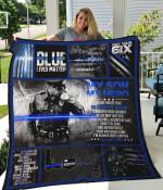 My Son, My Policeman Quilt Blanket