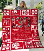 Ncaa Nebraska Cornhuskers Quilt Blanket #499