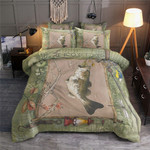 Bass Fishing Large Mouth Small Mouth Bedding Set (Duvet Cover & Pillow Cases)