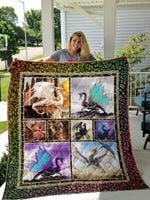 The Colorful Dragon Picture Collection Quilt Blanket Great Customized Blanket Gifts For Birthday Christmas Thanksgiving