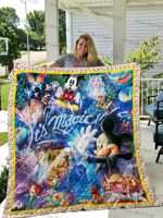 Mickey And Friends Poster Quilt Blanket
