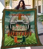 Ncaa Miami Hurricanes Quilt Blanket #154