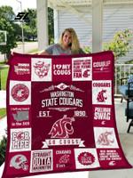 Washington State Cougars Quilt Blanket 01