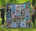 I Love My Australian Cattle Dog Quilt Blanket Great Customized Blanket Gifts For Birthday Christmas Thanksgiving