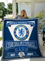 Chelsea Football Club Quilt Blanket Great Customized Gifts For Birthday Christmas Thanksgiving Perfect Gifts For Soccer Lover