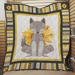 Sunflower Fox With Mixed Patterns Quilt Blanket Great Customized Blanket Gifts For Birthday Christmas Thanksgiving