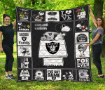 Oakland Raiders Quilt Blanket