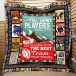 American Football It's Not The Team With The Best Players That Win Quilt Blanket Great Customized Gifts For Birthday Christmas Thanksgiving Perfect Gifts For American Football Lover