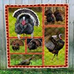 Turkey Walking Quilt Blanket Great Customized Gifts For Birthday Christmas Thanksgiving Perfect Gifts For Turkey Lover