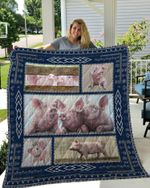 Pig Friends Quilt Blanket Great Customized Blanket Gifts For Birthday Christmas Thanksgiving