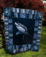 Shark Picture Quilt Blanket Great Customized Gifts For Birthday Christmas Thanksgiving Perfect Gifts For Shark Lover