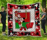 Ncaa Wisconsin Badgers Quilt Blanket #571