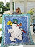 Frosty The Snowman Quilt Blanket 01429