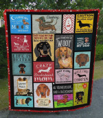Just A Girl Who Loves Dachshund Quilt Blanket Great Customized Blanket Gifts For Birthday Christmas Thanksgiving Perfect Gifts For Dachshund Lovers
