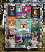 A House Is Not A Home Without A Corgi Quilt Blanket Great Customized Blanket Gifts For Birthday Christmas Thanksgiving