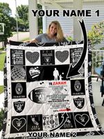 Oakland Raiders – Personalized Name Quilt Blanket