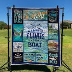 The Lake Life Slows Down And Friend Stay Longer Quilt Blanket Great Customized Blanket Gifts For Birthday Christmas Thanksgiving