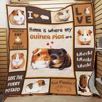 Home Is Where My Guinea Pigs Are Quilt Blanket Great Customized Blanket Gifts For Birthday Christmas Thanksgiving