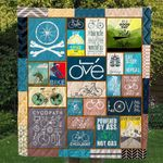 Bicyle It's A Good Day To Ride Quilt Blanket Great Customized Gifts For Birthday Christmas Thanksgiving Perfect Gifts For Bicycle Lover