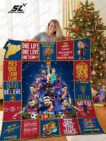 H – Barcelona Christmas Quilt Blanket Ver 17