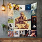 Joni Mitchell Style 2 Quilt Blanket