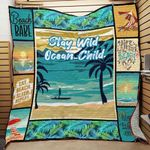 Sea Stay Wild Ocean Child Quilt Blanket Great Customized Blanket Gifts For Birthday Christmas Thanksgiving