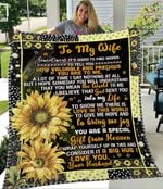 Personalized Sunflower To My Wife Quilt Blanket From Husband You Are A Special Gift From Heaven Great Customized Blanket Gifts For Birthday Christmas Thanksgiving
