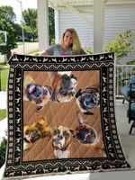 Boxers Make A Circle Quilt Blanket Great Customized Blanket Gifts For Birthday Christmas Thanksgiving