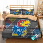 Ncaa Kansas Jayhawks 1 Logo N 3d Duvet Cover Bedding Sets