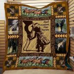 Real Princess Kiss Horses Quilt Blanket Great Customized Blanket Gifts For Birthday Christmas Thanksgiving