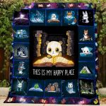 Book This Is My Happy Place Quilt Blanket Great Customized Blanket Gifts For Birthday Christmas Thanksgiving