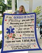 Personalized Paramedic To My Wife From Husband I Love You Forever And Always Quilt Blanket Great Customized Gifts For Birthday Christmas Thanksgiving Wedding Valentine's Day