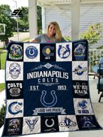 Indianapolis Colts Quilt Blanket Ver 17
