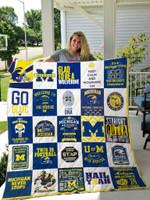 Michigan Wolverines Quilt Blanket 02