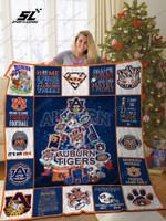 Auburn Tigers Christmas Tree Quilt Blanket