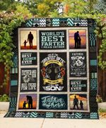 Father And Son Best Friend For Life Quilt Blanket Great Customized Blanket Gifts For Birthday Christmas Thanksgiving