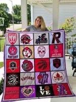 Toronto Raptors 01 All Season Plus Size Quilt Blanket