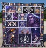 Wicca Girl Symbol Quilt Blanket Great Customized Gifts For Birthday Christmas Thanksgiving Perfect Gifts For Wicca Lover