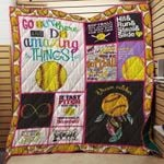 Softball Go Out There And Do Amazing Thing Quilt Blanket Great Customized Gifts For Birthday Christmas Thanksgiving Perfect Gifts For Softball Lover