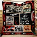 Mustang All The Time Quilt Blanket