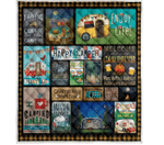 Camping Welcome To Our Campsite Quilt Blanket Great Customized Blanket Gifts For Birthday Christmas Thanksgiving