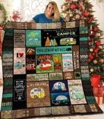 Camping Money Can't Buy Happiness But It Can Buy A Camper Quilt Blanket Great Customized Blanket Gifts For Birthday Christmas Thanksgiving
