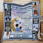 Personalized Black Woman To My Daughter Quilt Blanket From Mom You' ll Always Be My Baby Girl Great Customized Blanket Gifts For Birthday Christmas Thanksgiving