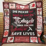 Nurse The Angels Cried You Are Going To Save Lives Quilt Blanket Great Customized Gifts For Birthday Christmas Thanksgiving Perfect Gifts For Nurse