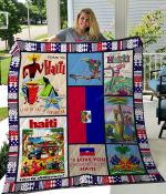Haiti I Love You From Here To Haiti Quilt Blanket Great Customized Gifts For Birthday Christmas Thanksgiving Perfect Gifts For Haiti Lover