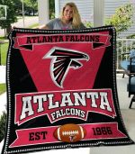 Atlanta Falcons Football Team Quilt Blanket Great Customized Blanket Gifts For Birthday Christmas Thanksgiving